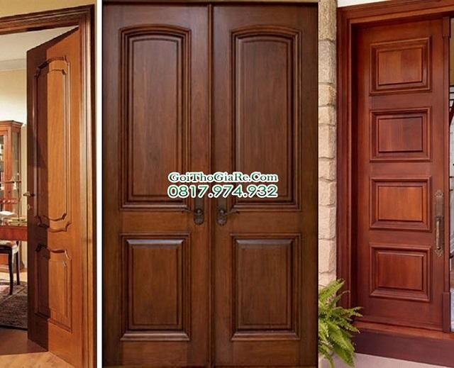Đơn vị chuyên sơn cửa gỗ màu cánh gián giá rẻ